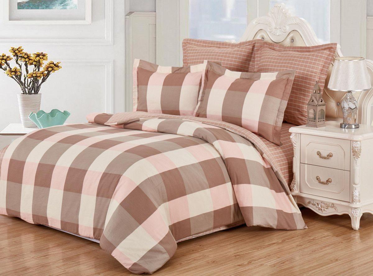 Постельное белье Valtery AB-SG 01 Комплект 1.5 спальный Перкаль + гипюр