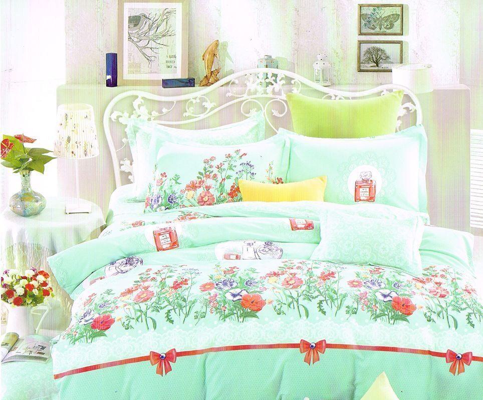 Постельное белье Экзотика 552 Комплект 1.5 спальный Поплин